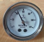Scitsu Temperature Gauge White Face